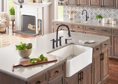 Blanco-Cerana-II-33-Farmhouse-Single-Kitchen-Sink-Empressa-Bridge-Pull-Down-Kitchen-Faucet-Soap-Dispenser-Empressa-Bar-Faucet-Formera-Bar-Sink---GL1