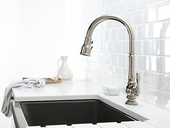 KOHLER 99259-CP ARTIFACTS PULLDOWN KITCHEN FAUCET IN CHROME ...
