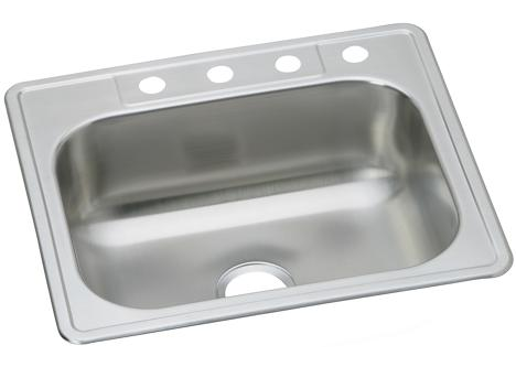 Dayton Dse13322 3 Drop In Single Bowl Stainless 3 Fct Holes Park Supply Company
