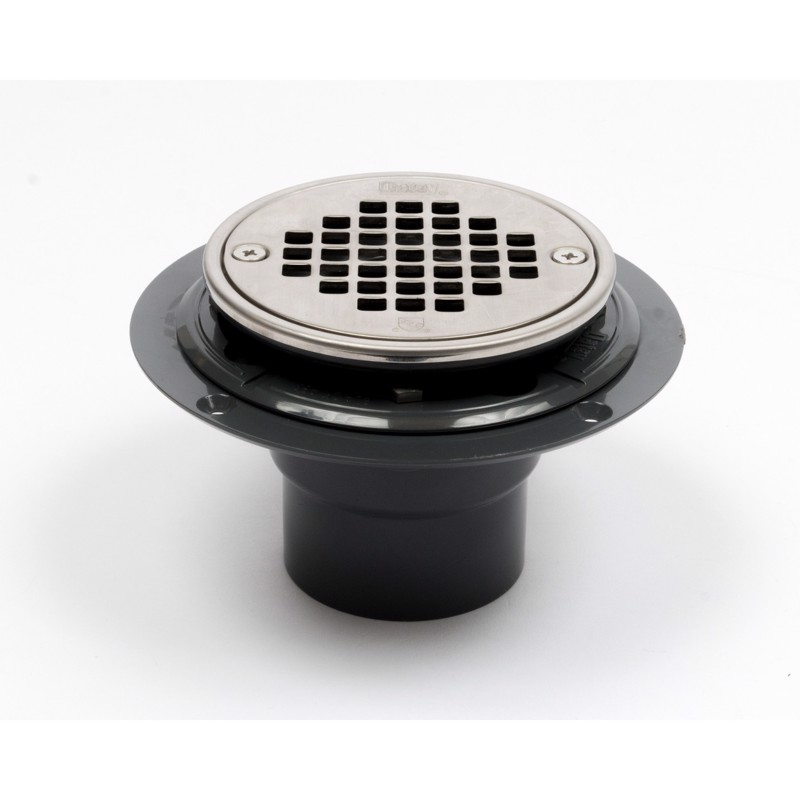Oatey Pvc Round Low Profile Tile Shower Drain Strainer With Ring Test Plug Park Supply Company